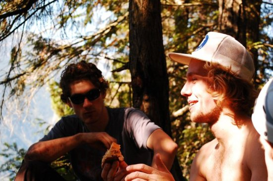 Post-ascent sandwiches, Squamish Bulletheads, September 2010
