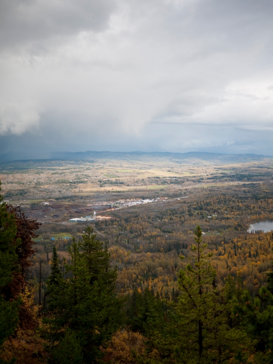 The Bulkley Valley from the lookout.