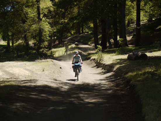 Taking the fun way into San Martin de los Andes, by way of farm roads and hiking trails.