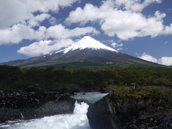 Volcan Osorno and los Saltos de Petrohue. After the storm.