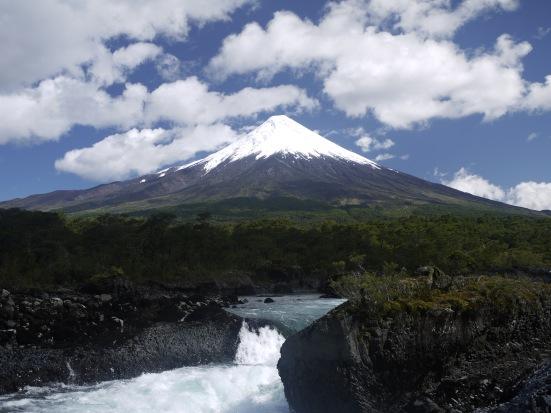 Volcan Osorno and los Saltos de Petrohue. After the storm.