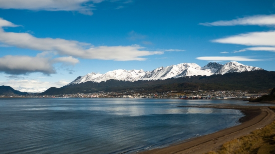 Ushuaia, and the Martial Mountains as a backdrop.