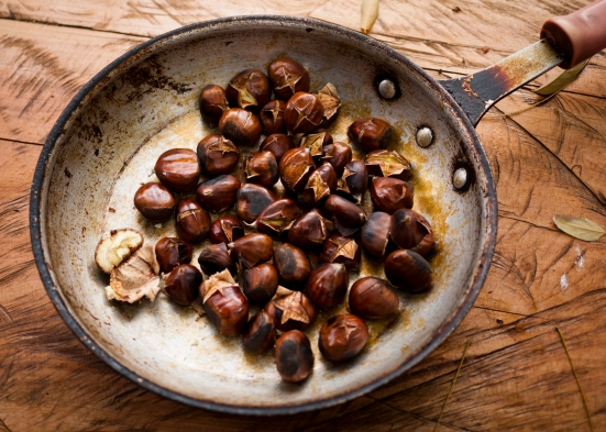 ...and roasted chestnuts, our gastronomic farewell.