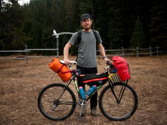 Knut proving that any bike can be a bikepacking bike.