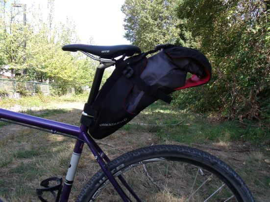 The Blackburn Outpost Seatpack on the Brodie Monster