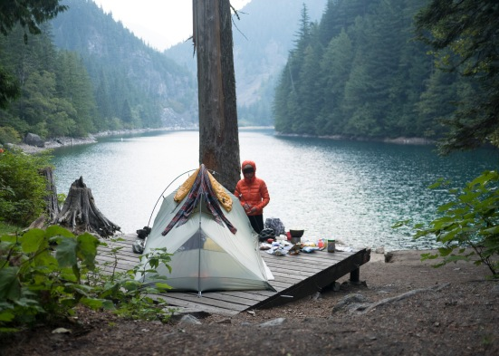 After the evening climb to Lindeman Lake, our campspot was totally lacking in an ominousness it deserved.