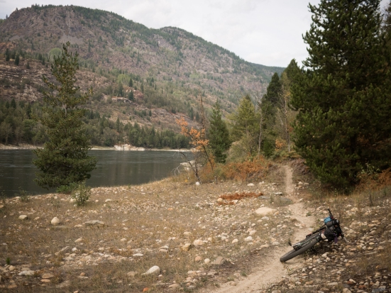 The Columbia Trail connects Trail and Castlegar, opposite the highway.
