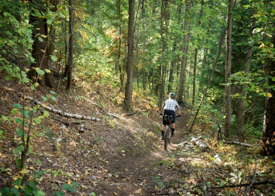The Skattebo trail takes us only part way to Nelson from Castlegar...